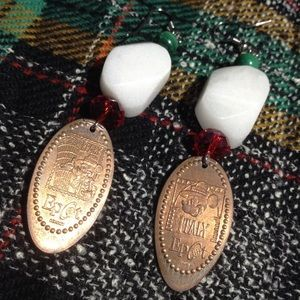 Italy Disney Epcot Italy Penny Earrings